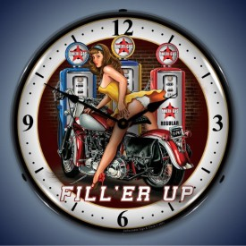 Motorcycle Lighted Clocks