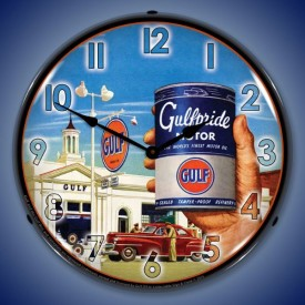 Gas & Oil Lighted Clocks
