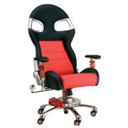 Black on Red LXE Executive Office Chair